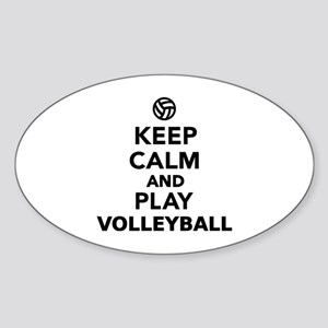 Keep calm and play Volleyball Sticker (Oval)